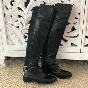 Tory Burch Black Patents Boots